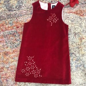 Red Velvet Dress (Small ) GAP Kids
